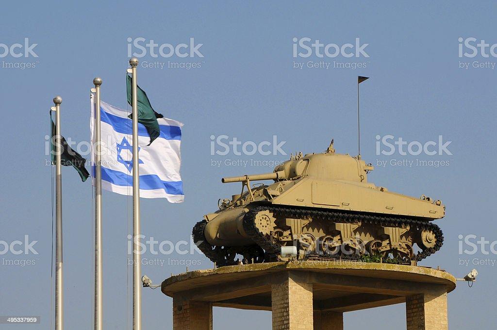 Latrun, monument of Israel Wars, Israel stock photo