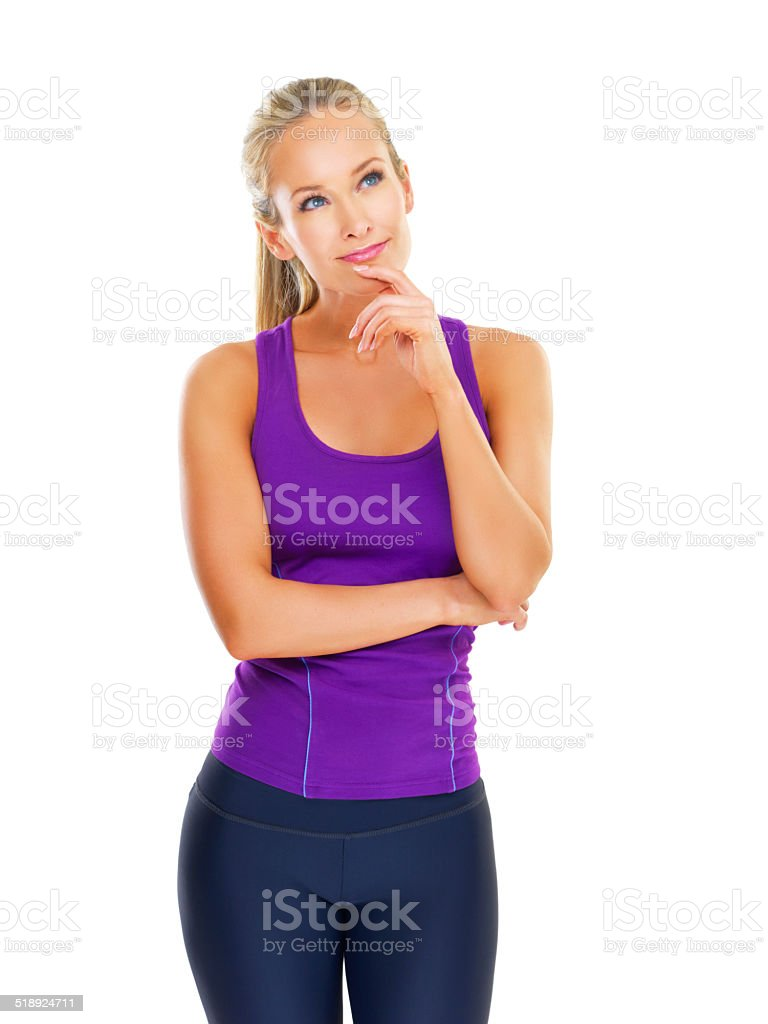 Lats or glutes today? stock photo