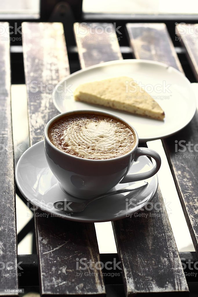 Latte and Shortbread royalty-free stock photo