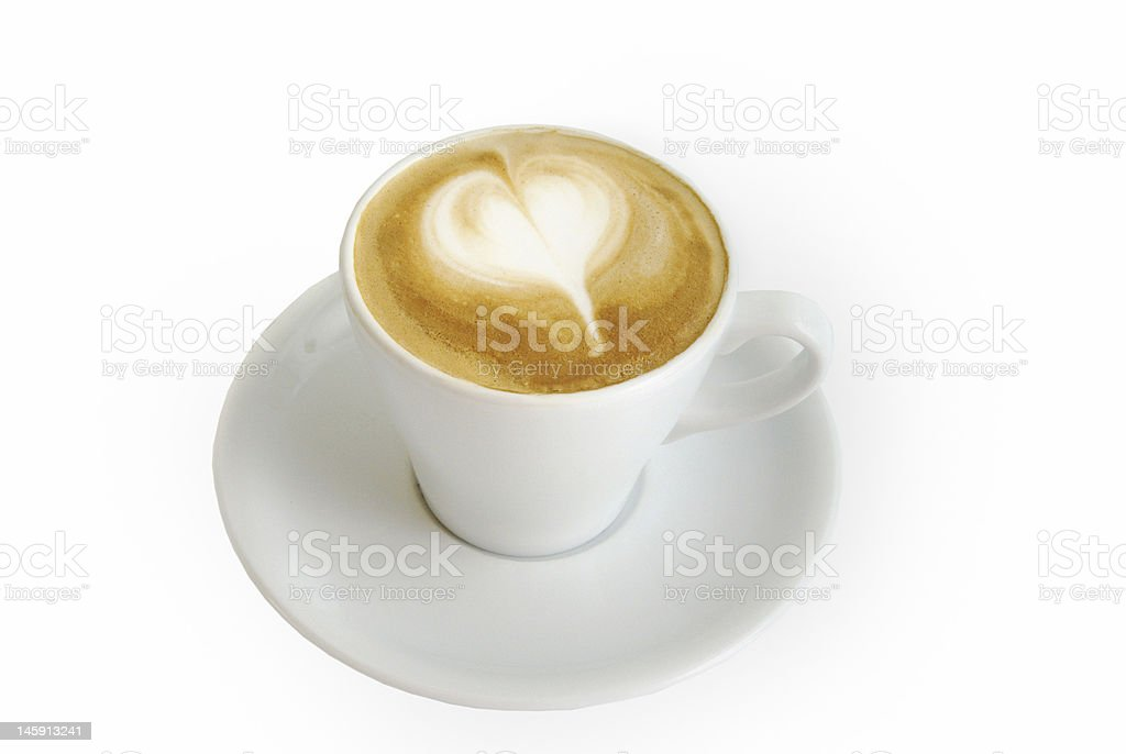 Latte Art - Cappuccino royalty-free stock photo
