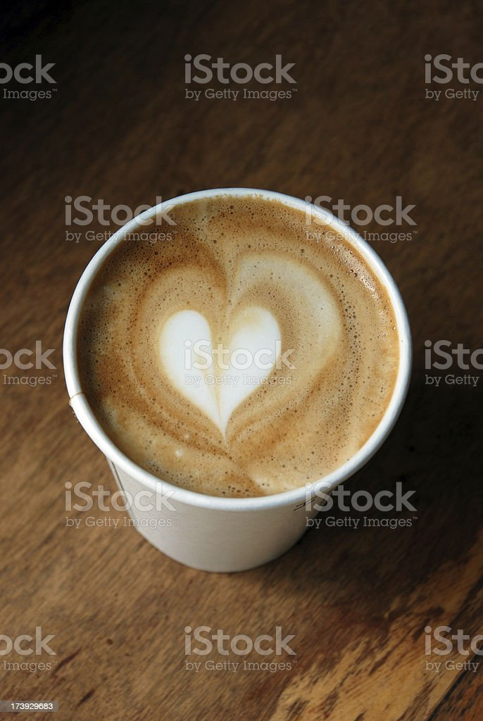 Latte art - heart shape royalty-free stock photo