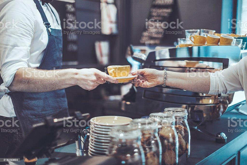 Latte art stock photo
