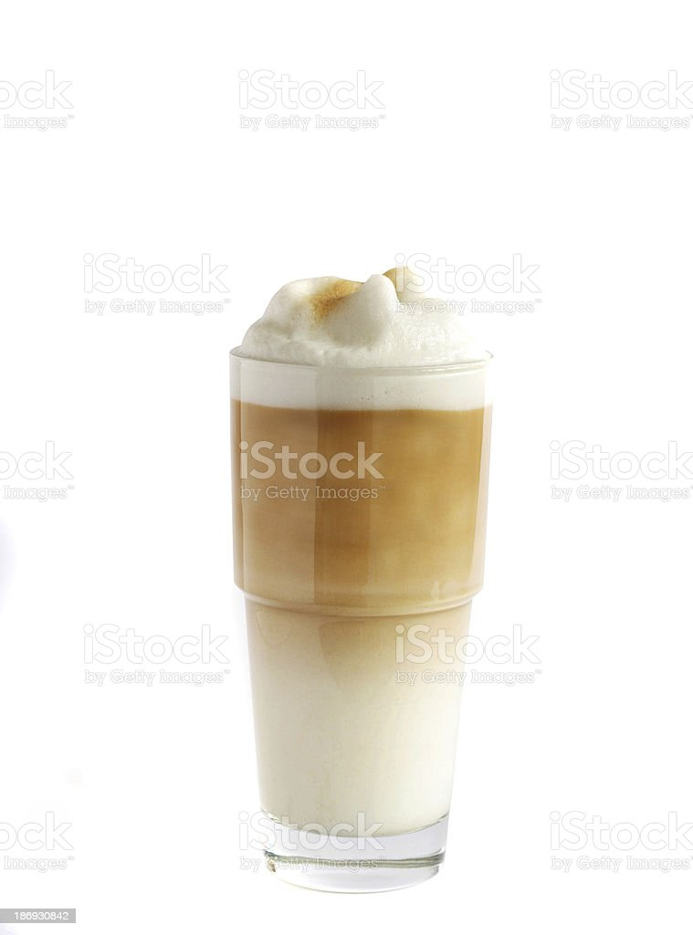 Latte coffee isolated on white stock photo