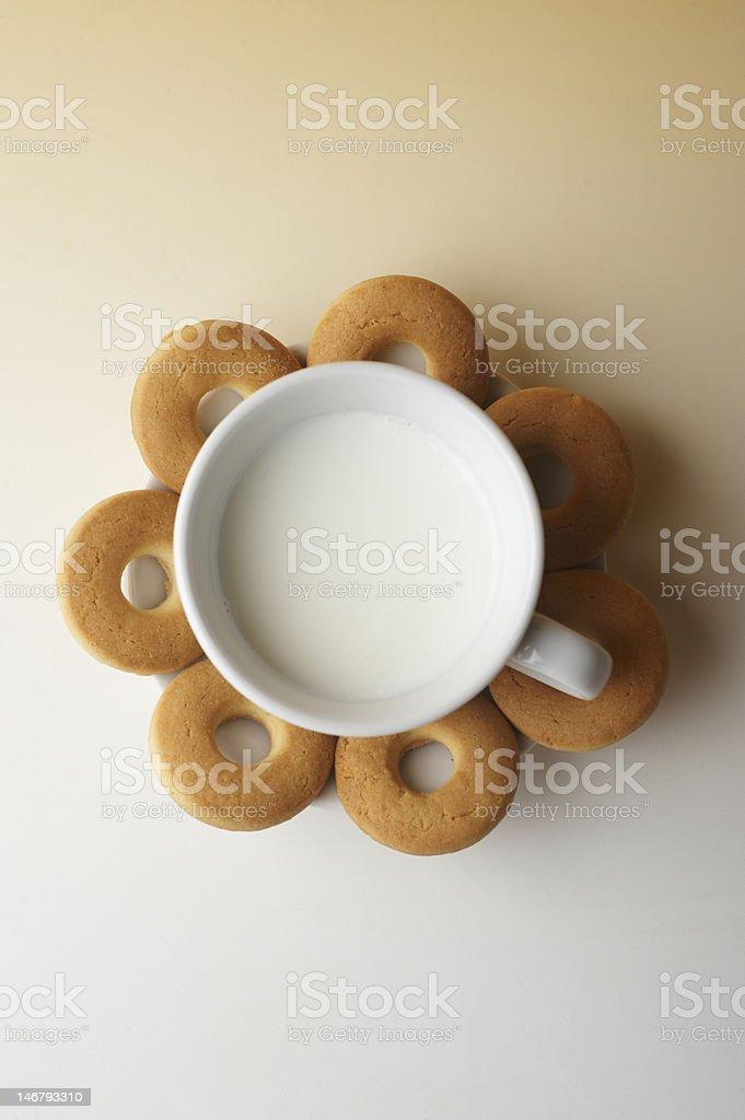 latte e biscotti royalty-free stock photo