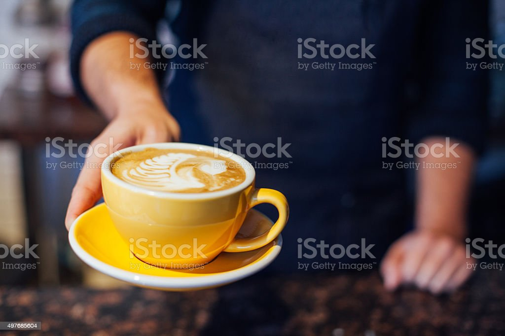 Latte Froth Art stock photo