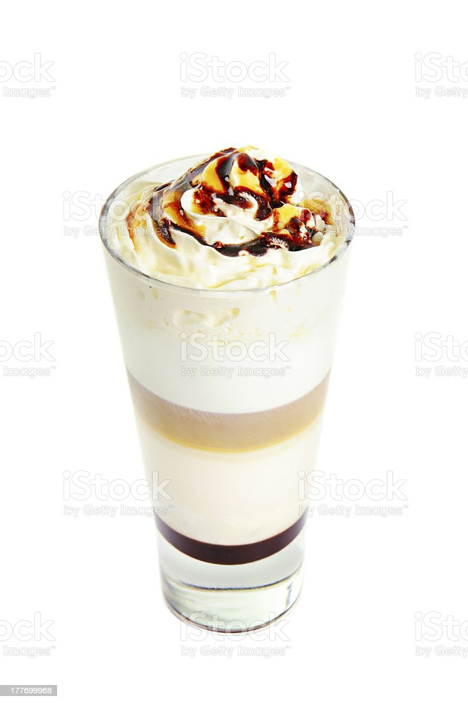 Latte isolated on white royalty-free stock photo