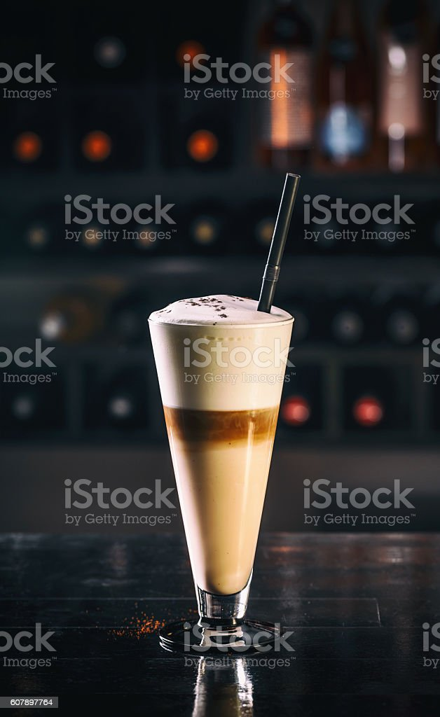Latte macchiato coffee stock photo