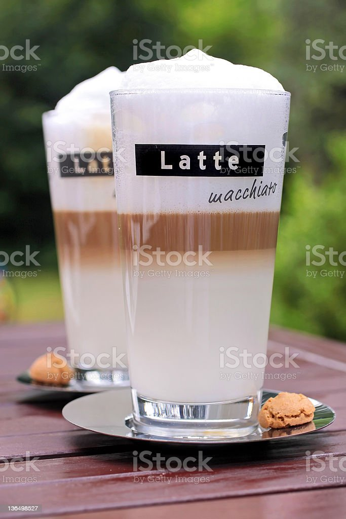 Latte Macchiato glasses royalty-free stock photo