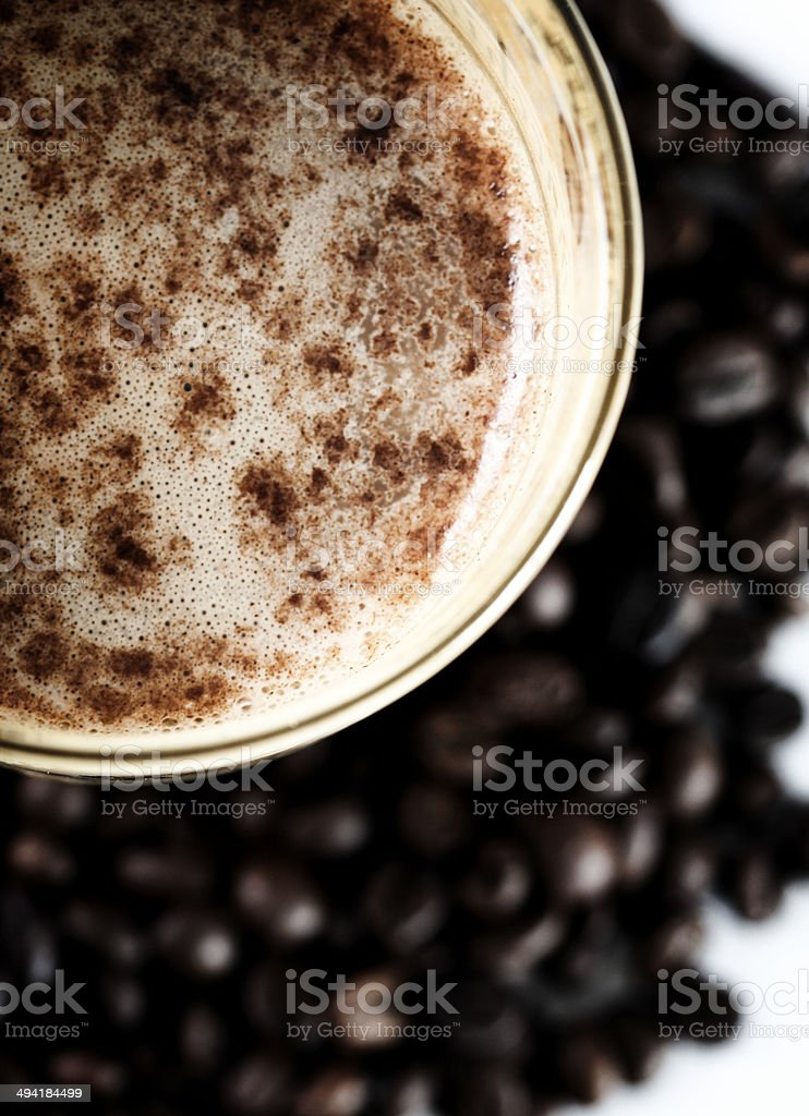 Latte Macchiato in glass stock photo