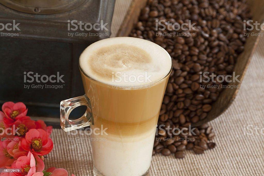 Latte macchiato royalty-free stock photo