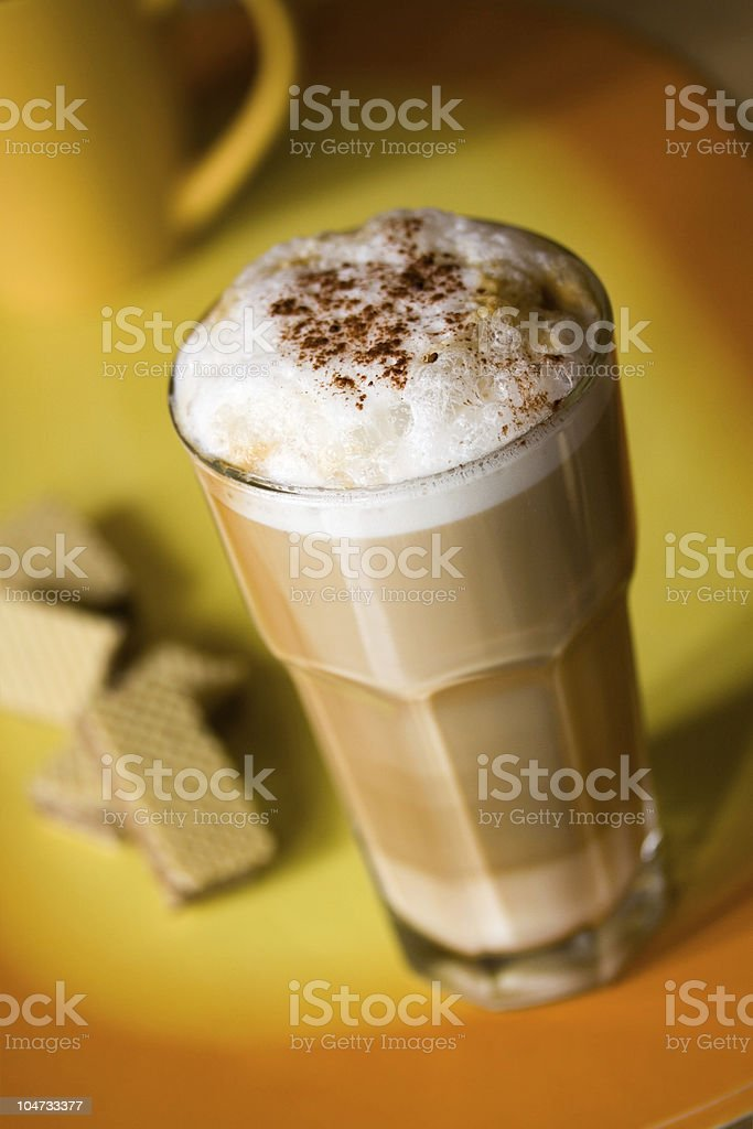 Latte Macchiato with Cookies royalty-free stock photo