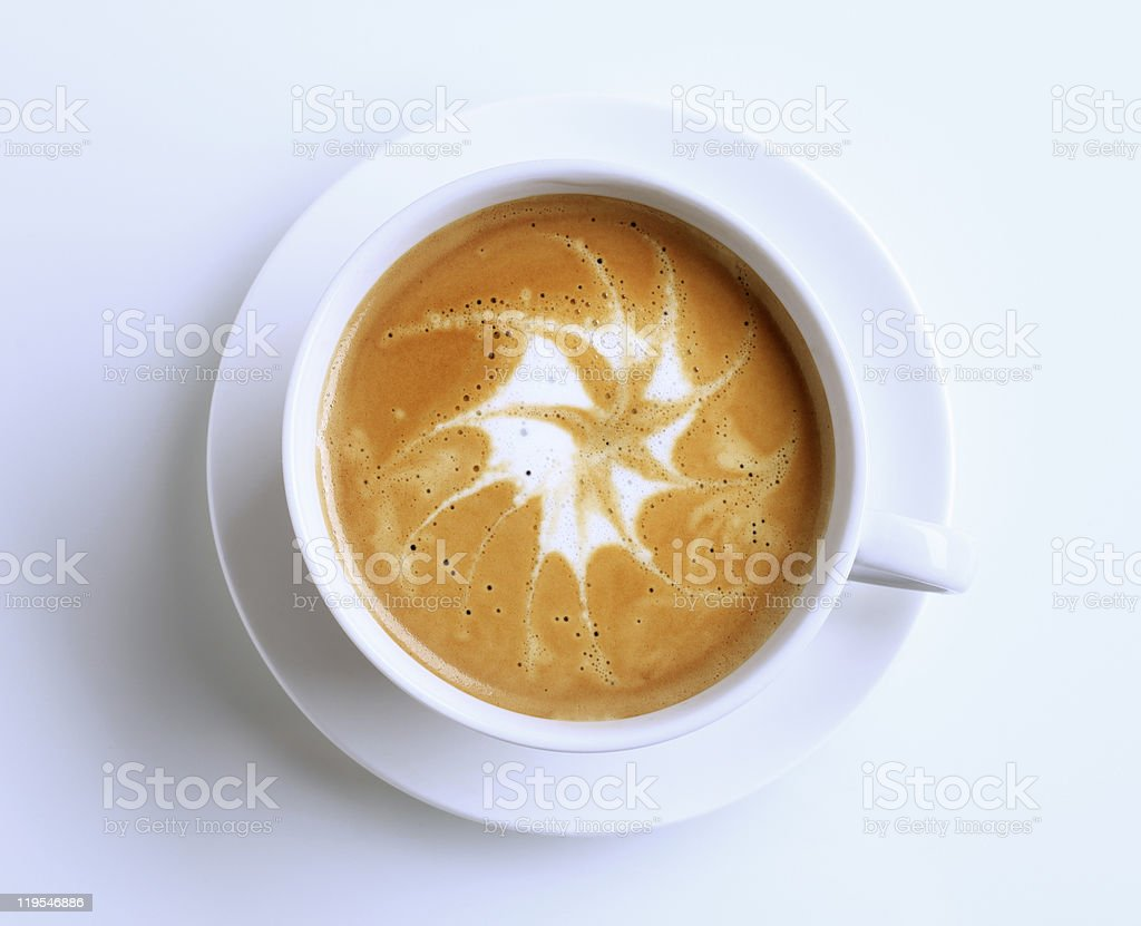 Latte with froth art royalty-free stock photo