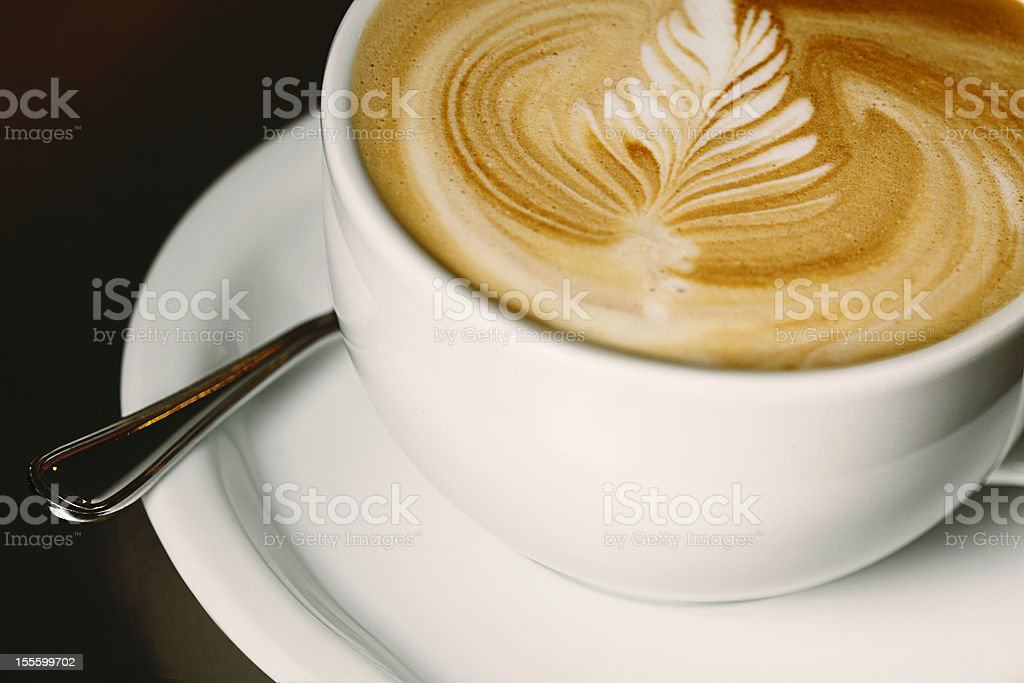 Latte with Rosette royalty-free stock photo