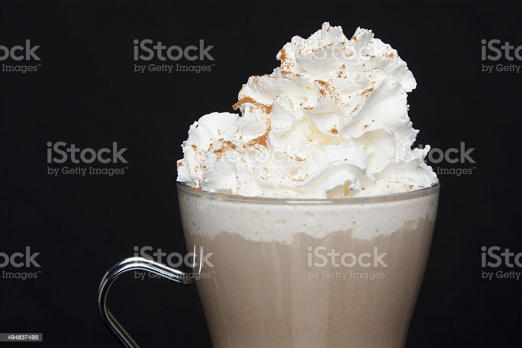 Latte with Whipped Cream stock photo