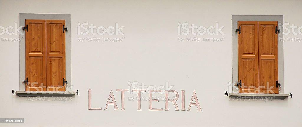 Latteria royalty-free stock photo