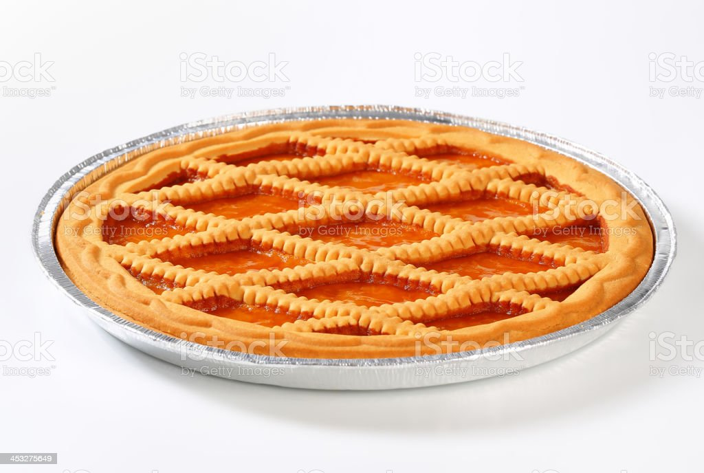 lattice apricot pie stock photo