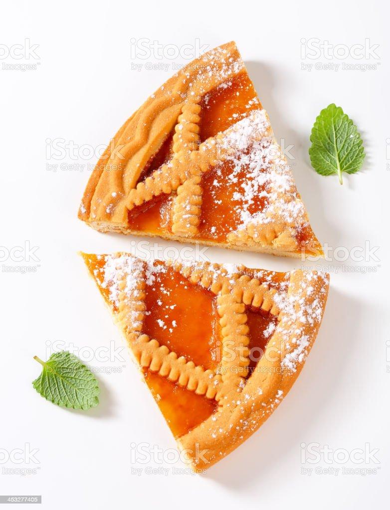 lattice apricot pie royalty-free stock photo