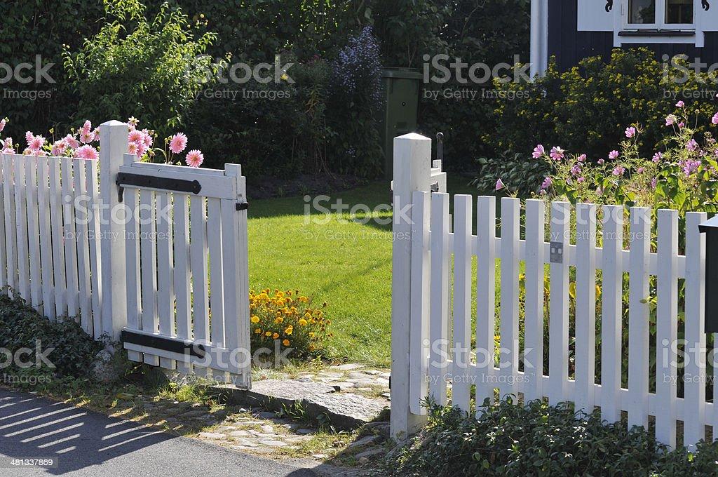 Lattice Door stock photo