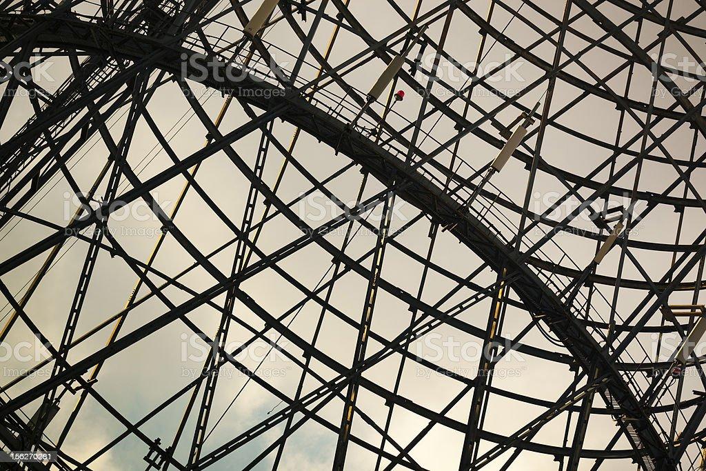 Lattice of Shukhov communication tower stock photo