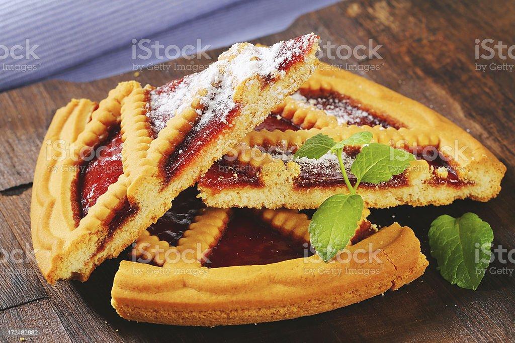 lattice pie slices stock photo
