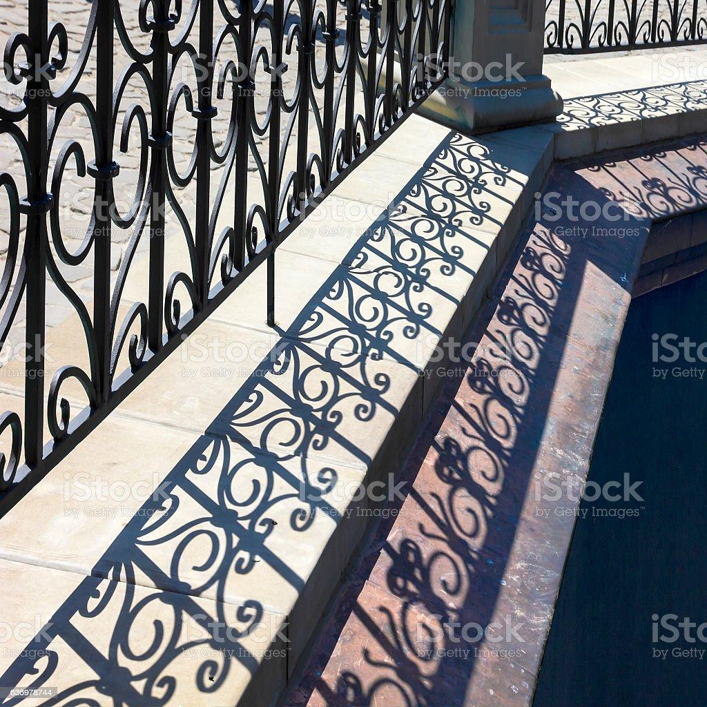 Lattice shadows pattern. stock photo