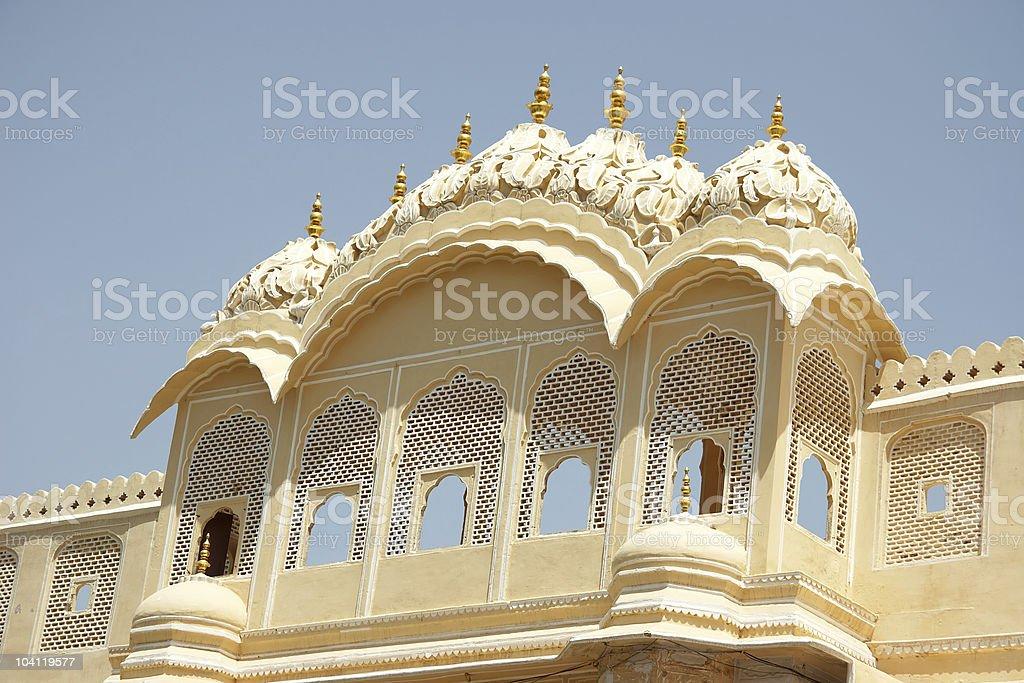 Lattice windows in Palace of Winds, Jaipur, India royalty-free stock photo