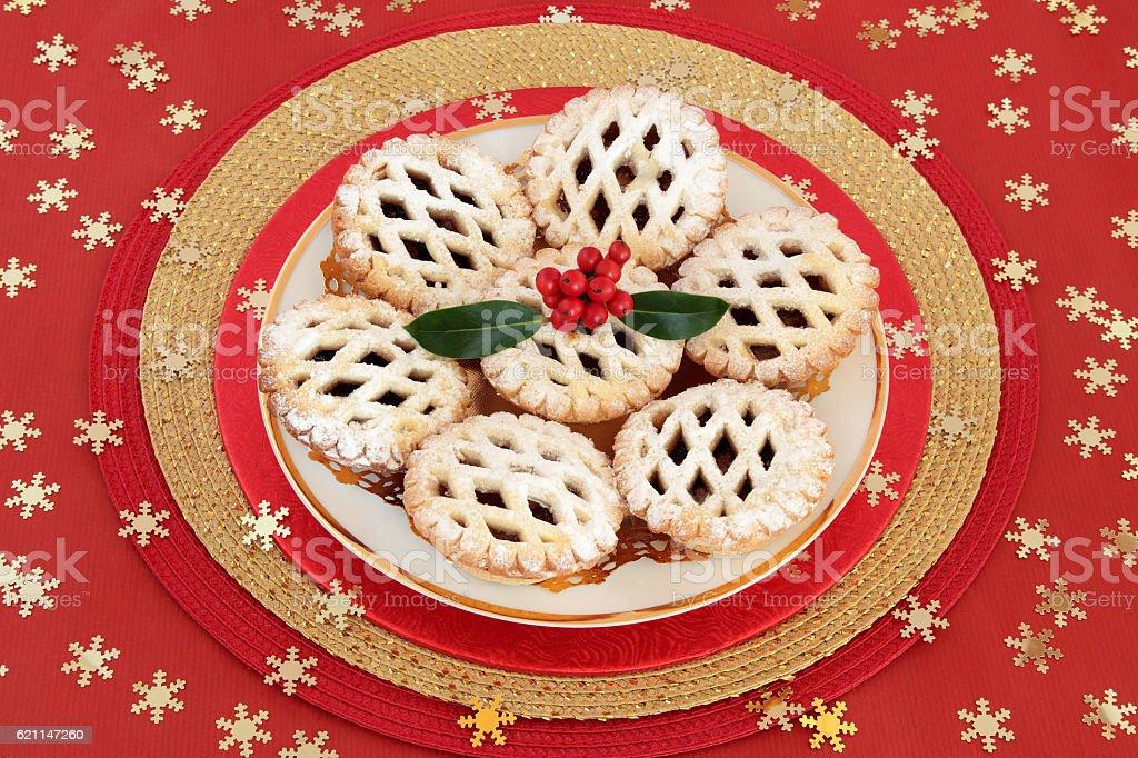 Latticed Mince Pies stock photo