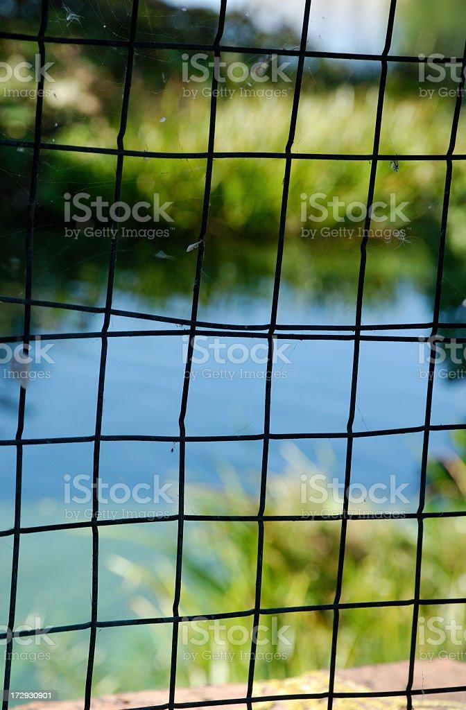 Latticed window stock photo