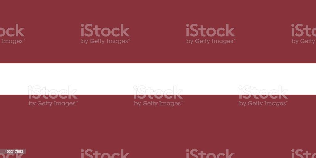 Latvia Flag background with white stripe going through red stock photo