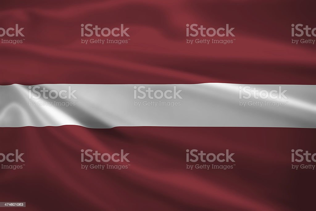 Latvia flag blowing in the wind stock photo