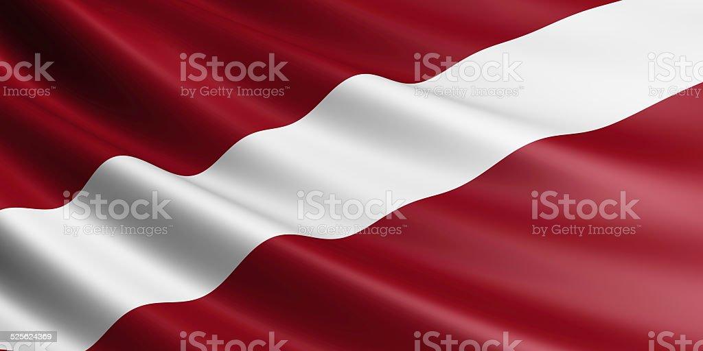 Latvia flag. stock photo