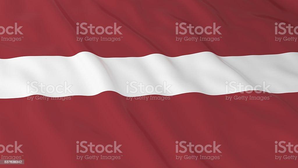 Latvian Flag HD Background - Flag of Latvia 3D Illustration stock photo