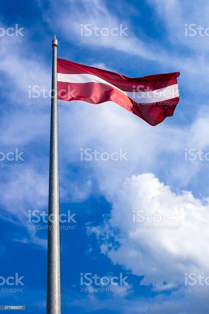 Latvian flag - vertical royalty-free stock photo