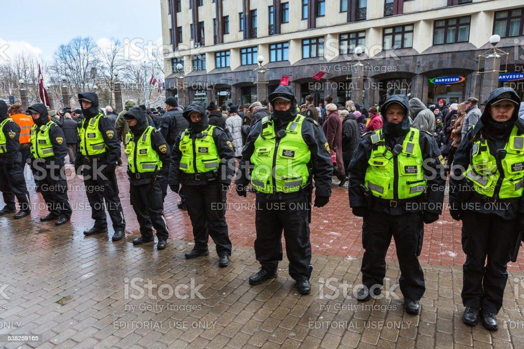 Latvian Legion Day stock photo