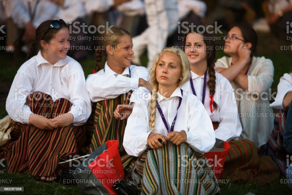 Latvian Youth Song and Dance festival stock photo