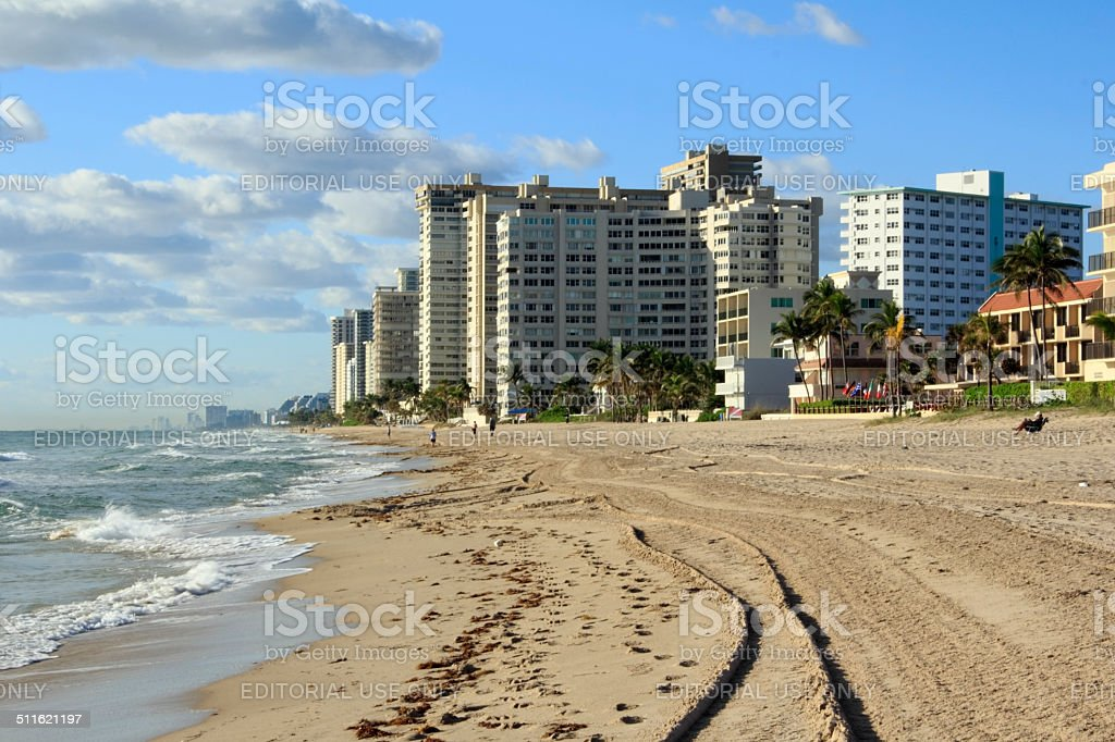 Lauderdale By The Sea View stock photo