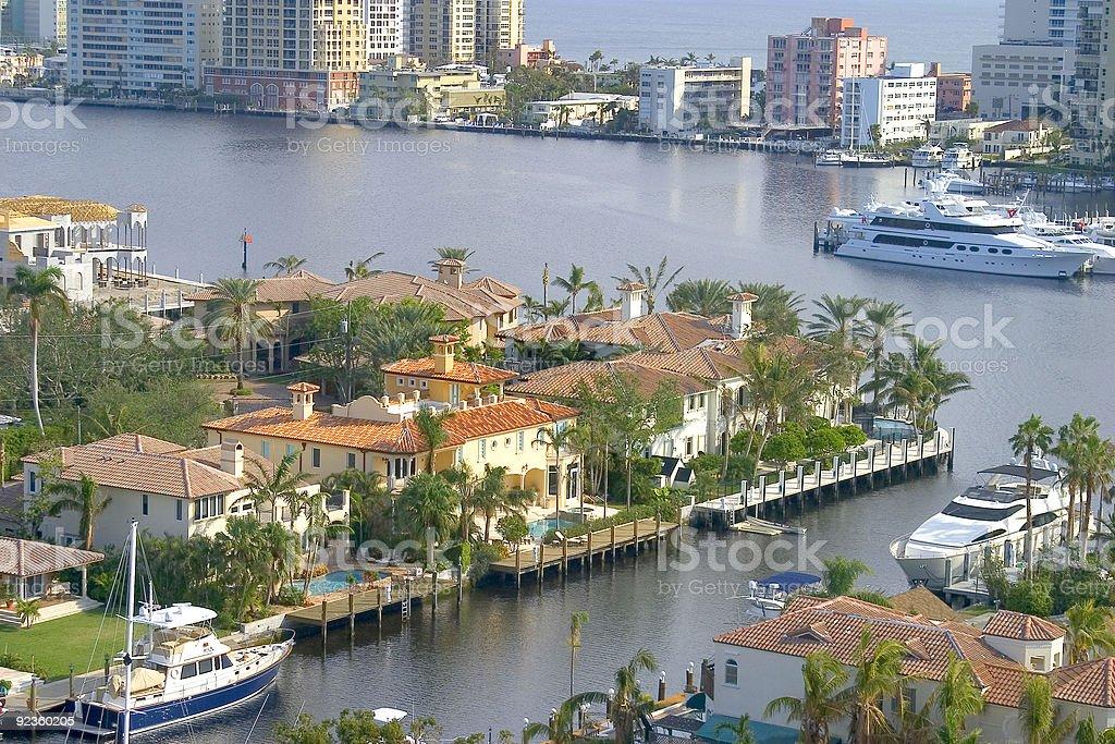 Lauderdale Condo view stock photo