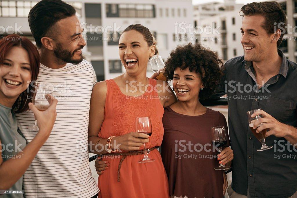 Laugh louder, live longer stock photo