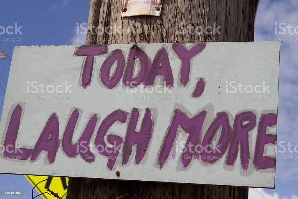 Laugh more royalty-free stock photo