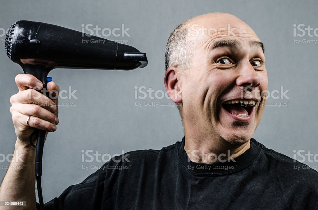 Laughing about it stock photo