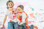 Laughing After Finger Painting
