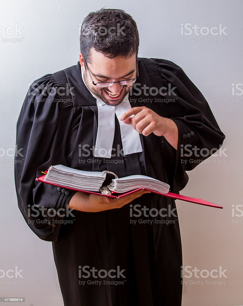 Laughing at the law royalty-free stock photo
