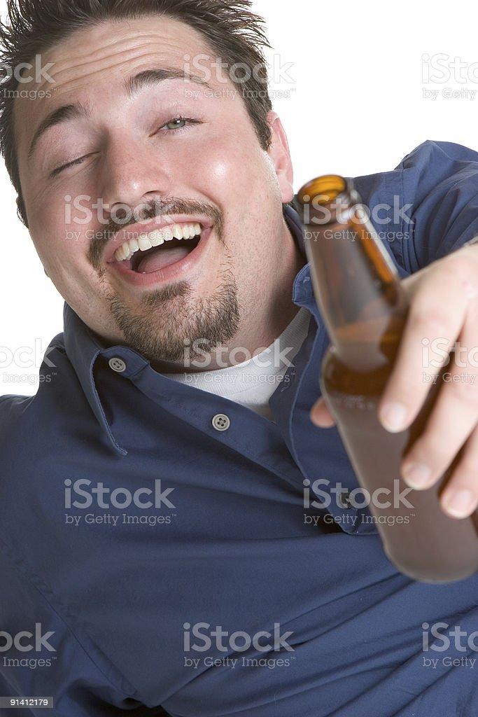 Laughing Beer Man royalty-free stock photo