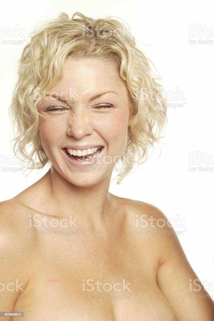 Laughing blonde royalty-free stock photo