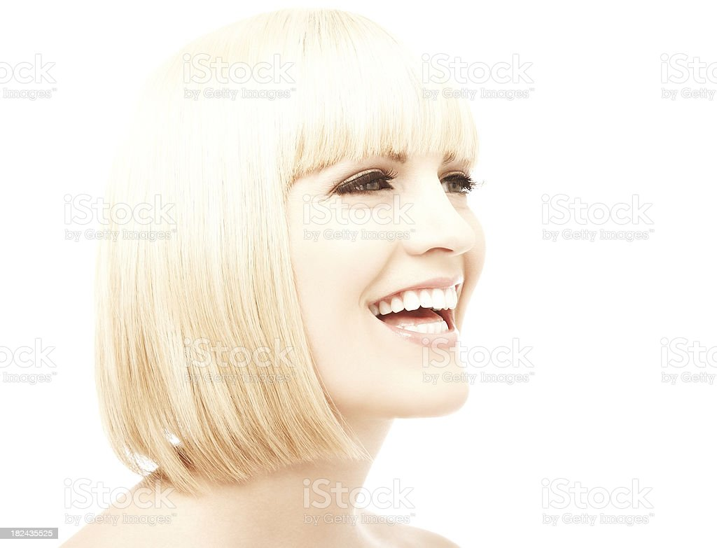 Laughing Blonde Woman royalty-free stock photo