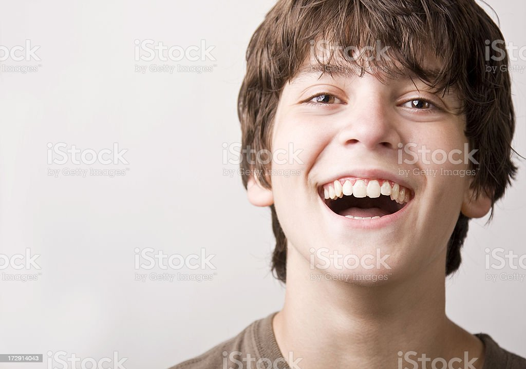 laughing boy stock photo