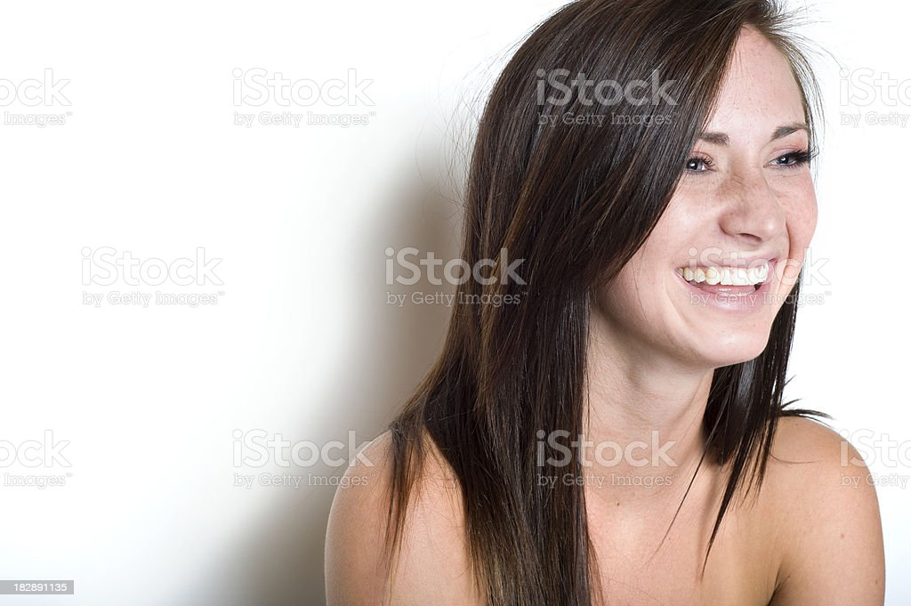 Laughing Brunnette royalty-free stock photo