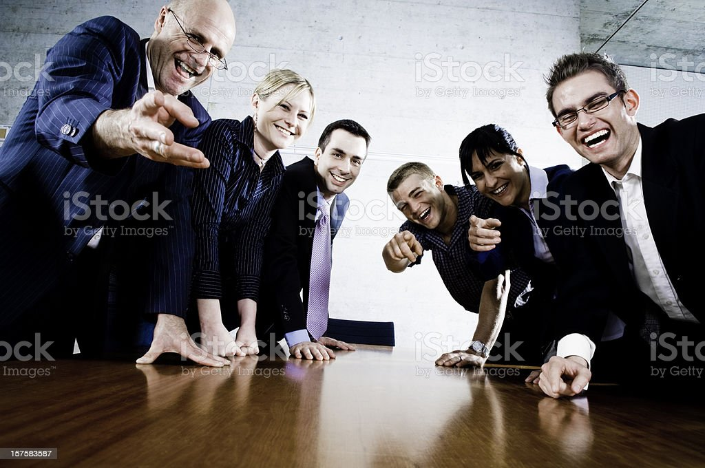 Laughing Business People royalty-free stock photo
