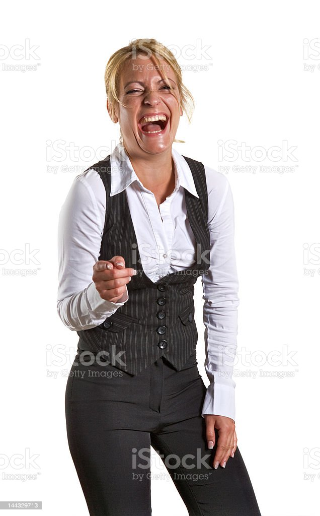 Laughing business woman royalty-free stock photo