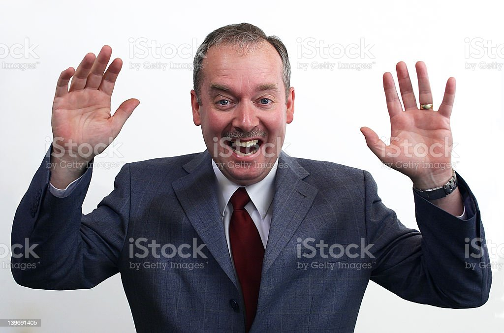 Laughing Businessman royalty-free stock photo